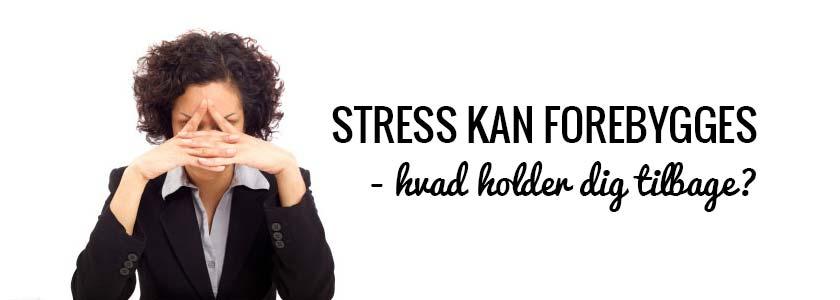 Stress kan forebygges - Hvad holder dig tilbage? Af Nicoline Svanborg Michaelsen
