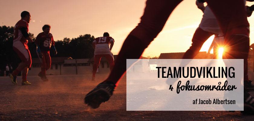 Teamudvikling - 4 fokusområder